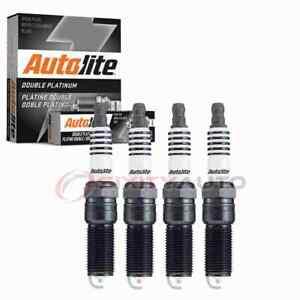 4 pc Autolite Double Platinum Spark Plugs for 2012 Fisker Karma Ignition mh