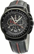 Luminox 9278 Men's F-22 Raptor Black / Red Leather Chronograph Date Watch