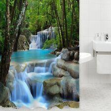 FP Rideau Douche Salle De Bain Cascade Forêt 3D Imprimé Étanche Maison 180cm