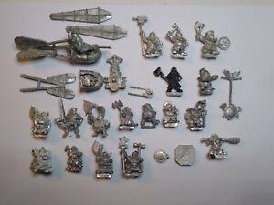 Warhammer Dwarves- Joblot of metal Miniatures and Parts. OOP
