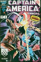 Captain America Annual # 8 VERY FINE 1986 Marvel  Featuring WOLVERINE 17572