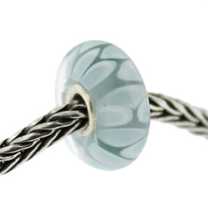 Authentic Trollbeads Glass 61407 Light Blue Shadow :0 RETIRED