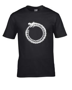 Ouroboros Eternal Serpant or Snake- ancient historic symbol  Men's T-Shirt