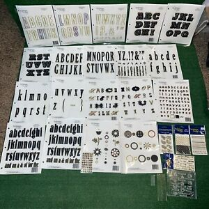 Lot Of 24 Technique Tuesday Clear Letter Cling Stamps Scrapbooking Labels