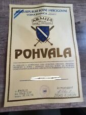 commendation for courage in Army of Bosnia and Hercegovina golden lily
