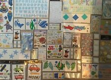HUGE SCRAPBOOKING LOT~10 MIXED ITEMS~EMBELLISHMENTS~STICKER~JOLEE~STARTER SET