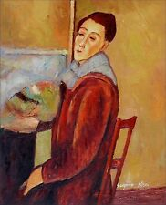 Quality Hand Painted Oil Painting Repro Amedeo Modigliani Self-Portrait 20x24in