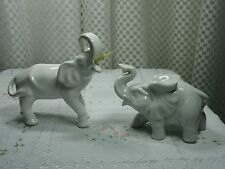 Vintage Pair of Beautiful Lucky White Elephants