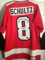 Philadelphia Flyers Dave The Hammer Schultz Signed Jersey/ Stanley Cup Photo
