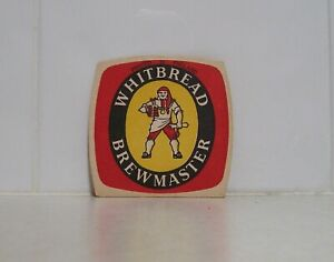 Collectable Double sided Beer coaster Whitbread Brewmaster beer England
