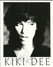 "KIKI DEE, superb 10"" x 8"" b/w promo photograph, ORIGINALLY SIGNED!"