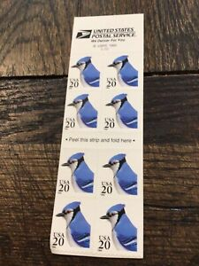 Blue Jay Self-Adhesive Stamps Booklet Pane of 8, 1996 Scott# 3048a; 20c