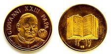 Medaglia Giovanni XXIII Papa (Sciltian) Metallo Dorato Diametro cm 2,8 g. 8,2