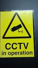 CCTV warning signs yellow - rigid metal composite