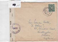 German Postal History Stamps Cover 1947 Ref 8757