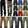 Mens Cargo Pants Combat Army Military Camouflage Camo Shorts Outdoor Trousers