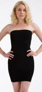 BODYFIT STRAPLESS FIRM CONTROL TUBE SLIP DRESS SHAPEWEAR SKIN OR BLACK BNWT