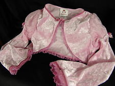 Disney Store Princess Shrug Medium long-sleeve shawl crop top jacket girl M pink