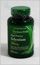 Puritan's Pride Selenium 200 mcg 250 Tablets New Sealed Free Shipping Exp:08/20