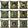 Printing Throw Cover Cushion Cotton Case Linen VINTAGE  Pillow Gift Decor Home