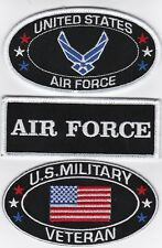 U.S. MILITARY VETERAN AIR FORCE SEW/IRON ON PATCH EMBROIDERED HARLEY BIKER USA