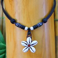 Muschelkette Blumenkette Damenkette Surferkette Surfschmuck Beachschmuck Strand
