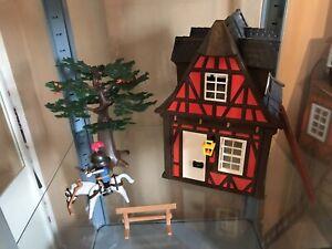 Playmobil Médiéval Maison + Chevalier + arbre