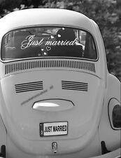 """Autoaufkleber Hochzeit """"Just married""""  Größe S"""