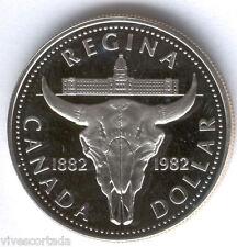 Canada 1 Dolar 1982 plata PROOF @@ Bufalo @@