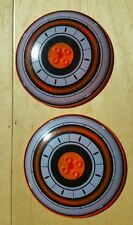 Lot of 2 Lego Star Wars Trans Neon Orange 10x10 Inverted Dish from set 7258