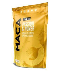 Vivo Life Organic Gelatinised Maca Powder Balance Hormones Boost Energy Improve