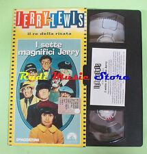 film VHS cartonata I SETTE MAGNIFICI Jerry Lewis il re della risata (F77)*no dvd