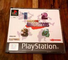 SONY PS1 GAME CAPCOM GENERATIONS 1 2 3 4 13 BEST CAPCOM 4 DISCS PLAYSTATION PS2