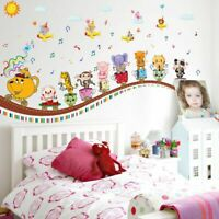Animals DIY Music Wall Sticker for Kids Baby Room Nursery Home Decor Mural Art