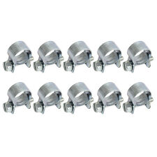 "Auto 10pcs 1/2"" Anti-rust Fuel Injection Hose Clamps Steel 11-13mm Zinc Plated"