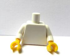 LEGO 1 Plain CORPO TRONCO PER DONNA RAGAZZA RAGAZZO UOMO PUPAZZETTO BIANCO GIALLO MANI