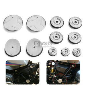 Frame Hole Cover Caps Plug For BMW R1200GS LC 2013-2018 R1200RT 2014-2017 Silver
