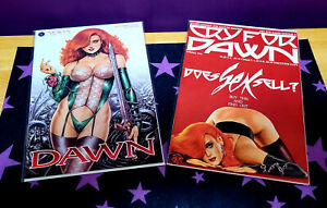 Dawn #1 and Cry for Dawn #5 Does Sex Sell? Joseph Linsner art, 2 books