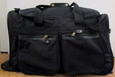 """Black 21"""" Duffle Bag Rolling Wheeled Trolley Bag Tote Luggage Travel Suitcase"""