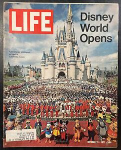 Vintage Life Magazine Disney World Opens. October 15, 1971 Good Condition