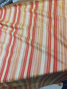 """50 Yard Roll Red with Gold Sheer stripes 120"""" inch double width Fabric"""