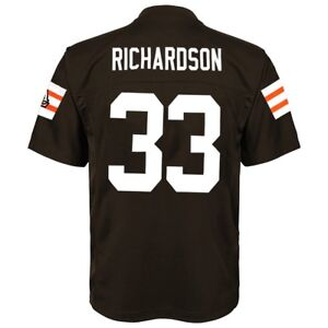 Trent Richardson NFL Cleveland Browns Mid Tier Replica Home Jersey Boys (4-7)