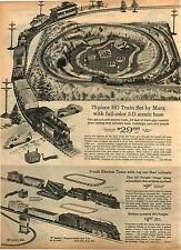 1965 ADVERTISEMENT Marx HO Manta Ray Toy Race Car Train Set