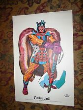 ORIGINAL 1972 JACK KIRBY - GODS - COLOR PORTFOLIO WITH ORIG MAILER / ENV