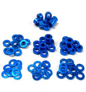 YA-0390LB 1/10 Light Blue Flat M3 Washer 0.25mm 0.5mm 1mm 1.5mm 2mm 2.5mm 3mm