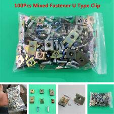100Pcs Mixed Car Door Fender Fastener Fixed Screw U-Type Gasket Clip Accessories