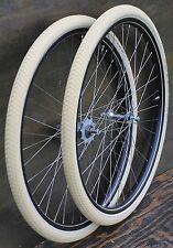 """Antique Bicycle 28"""" WHEELS Vintage New Departure Morrow Hub Wood Rim Bike Tires"""