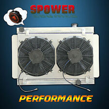 Aluminum Radiator+Fan Shroud For Holden Kingswood HQ HJ HX HZ Torana Chev Engine