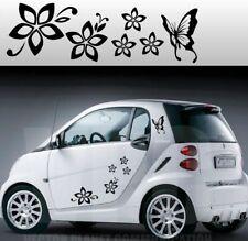 stickers adesivi adesivo tuning fiori farfallina farfalle auto smart mini a0005