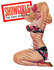 Retro 50s Pinup Girl Sexy Blond Showgirl Waterslide Decal Sticker S450